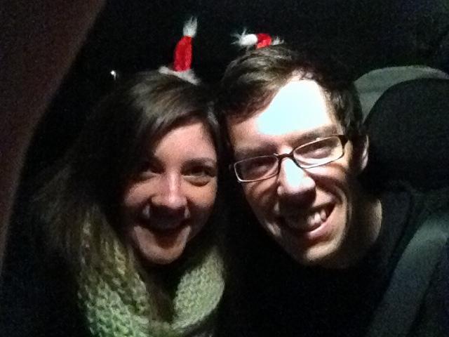 Brian and Tara driving