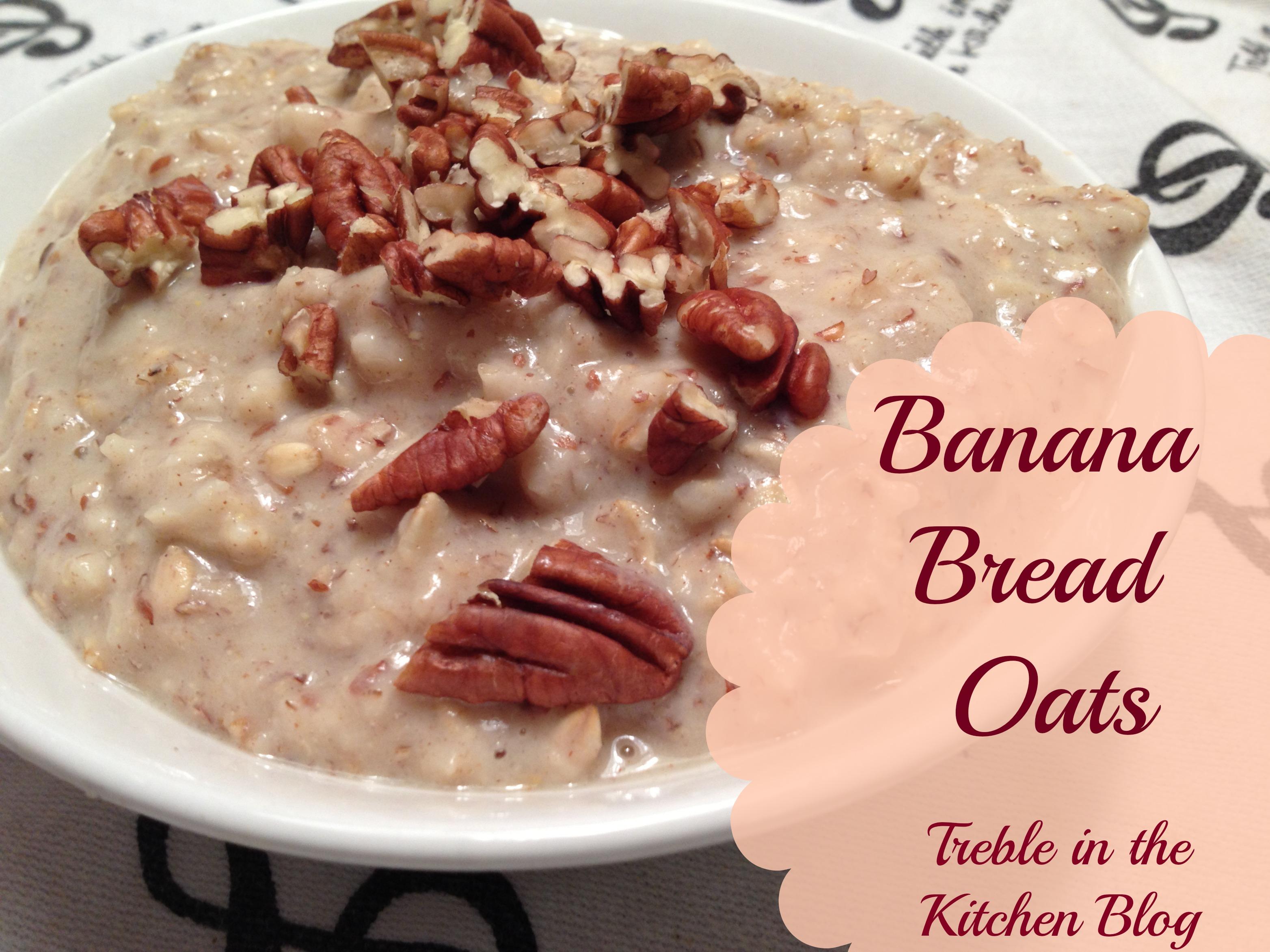 banana bread oats text