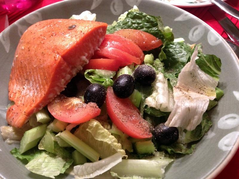 salmon salad dinner