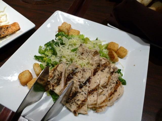 chicken caesar salad tasting