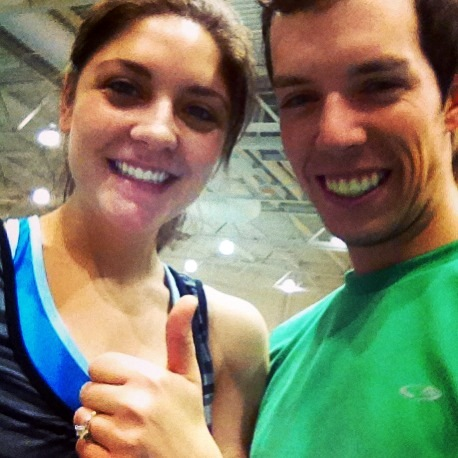 brian and tara at gym