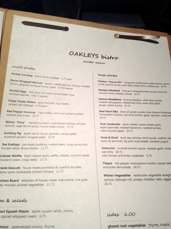 oakleys bistro 2