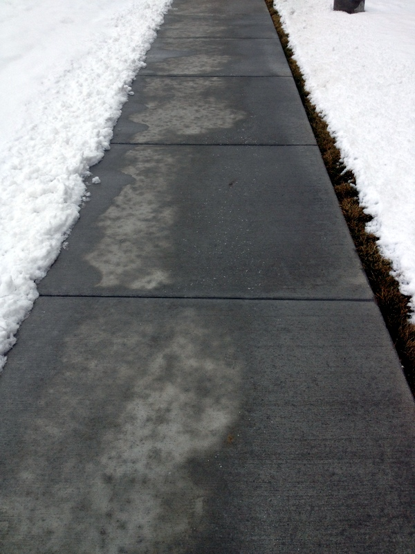 snowy side walk