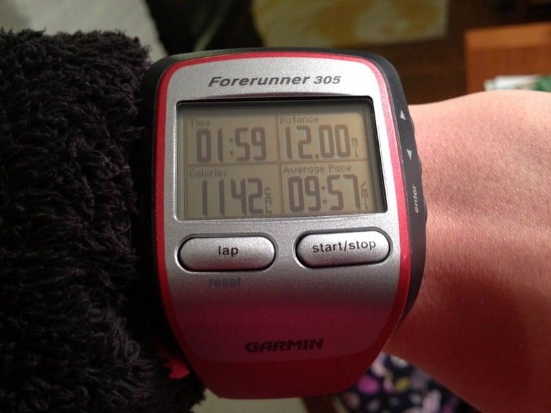 12 mile run garmin