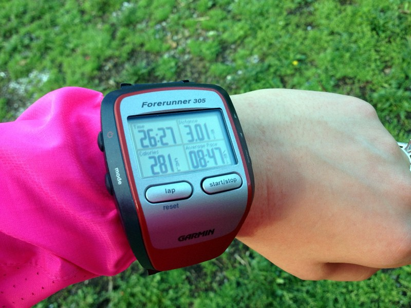 3 mile run garmin