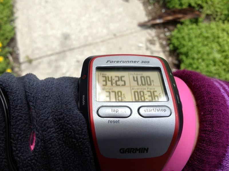 4 miles garmin