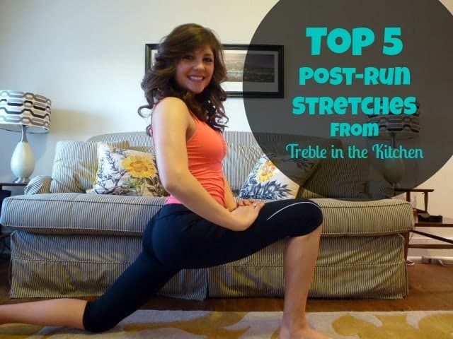 hip flexor stretch treble in the kitchen text