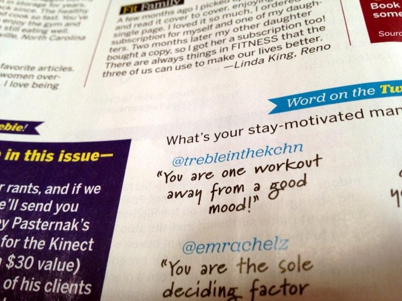 in a magazine