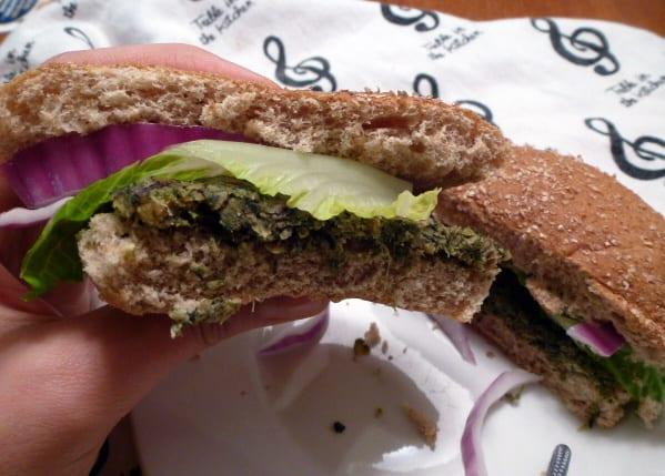 lentil spinach greek burger 4