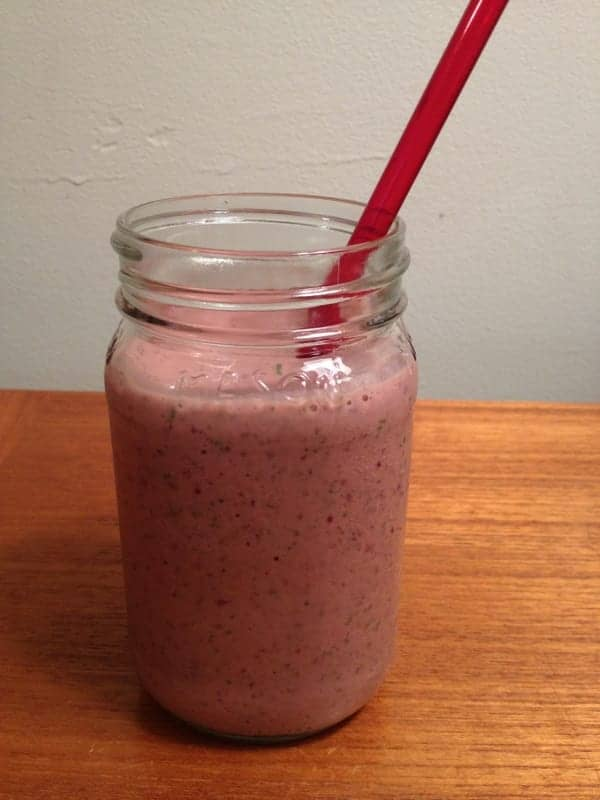 chocolate cherry smoothie