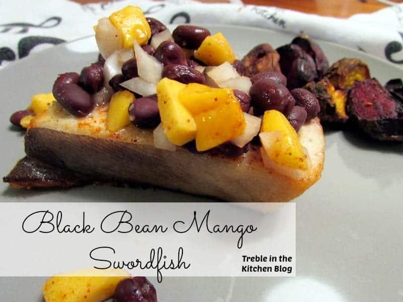 black bean mango swordfish text