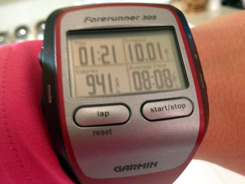 10 mile run garmin