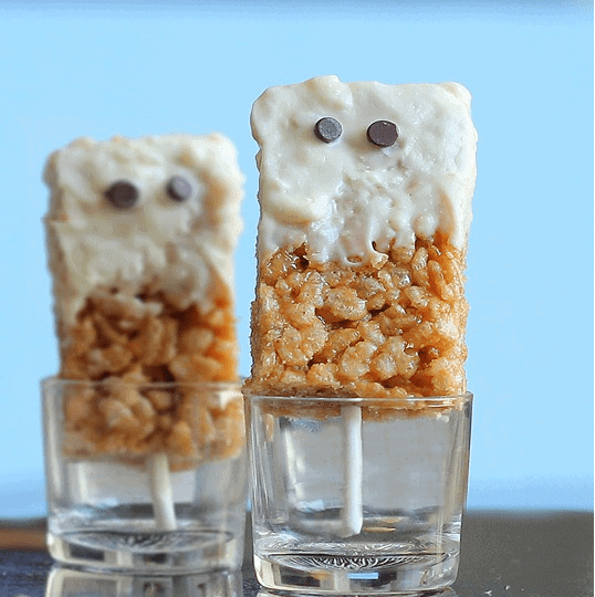 spooky rice krispies