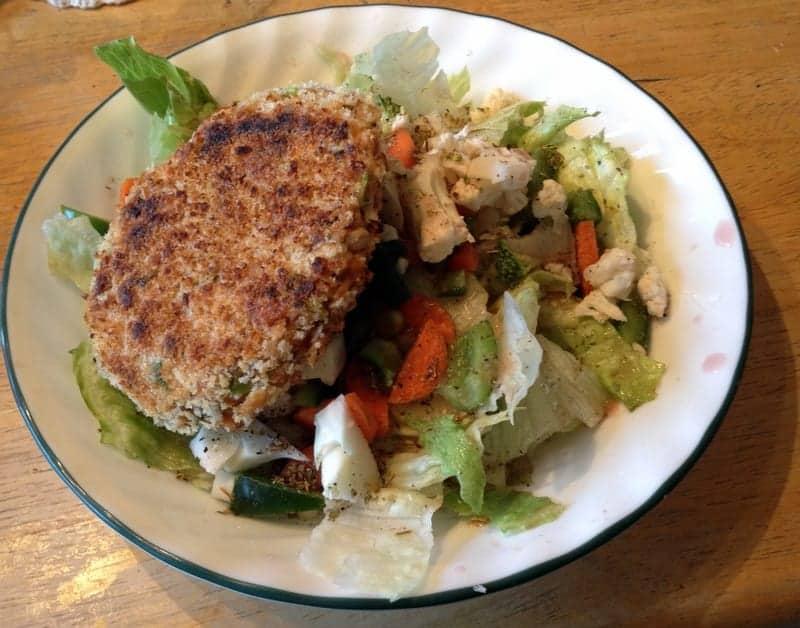 salmon cake salad