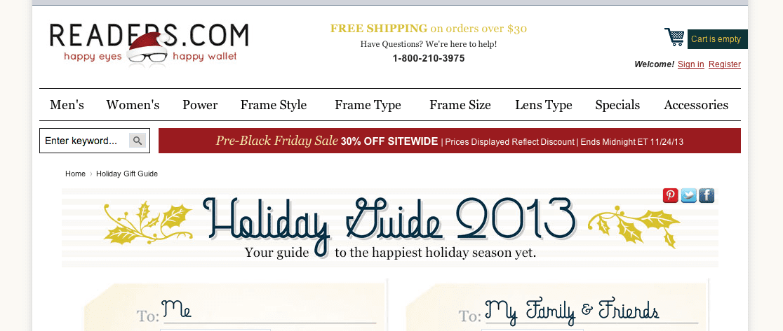 readers.com holiday guide