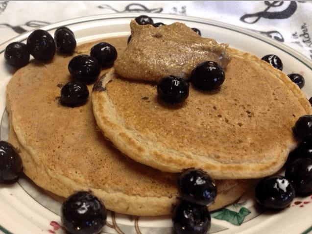 protein pancake treble in the kitchen