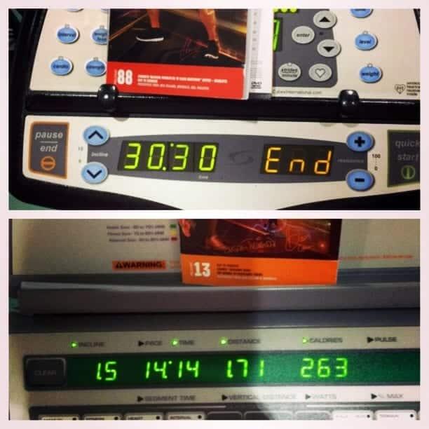 cx and bodypump on cardio machine