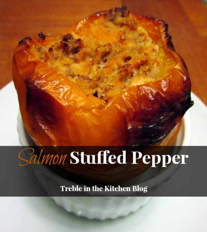 Salmon Stuffed Pepper via Treble in the Kitchen