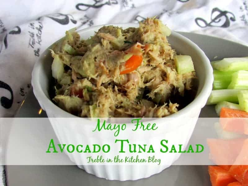 mayo free avocado tuna salad