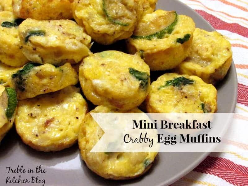 mini crabby egg muffins via treble in the kitchen
