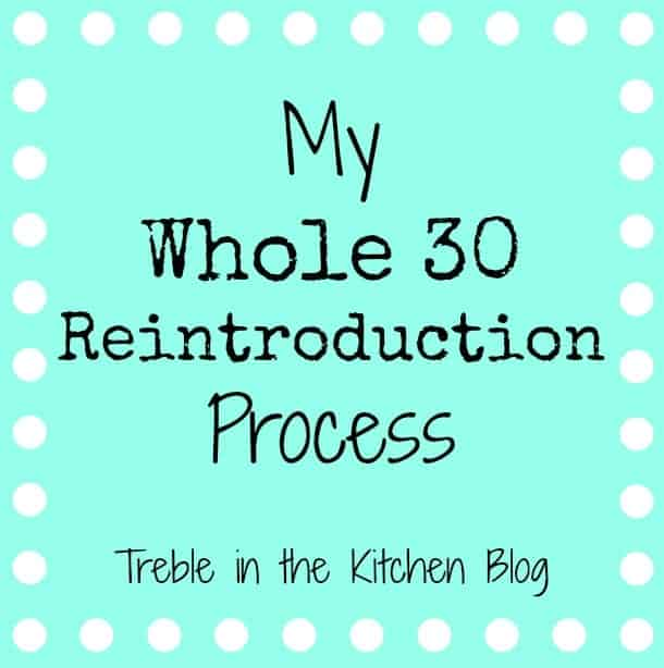 Whole 30 Reintroduction