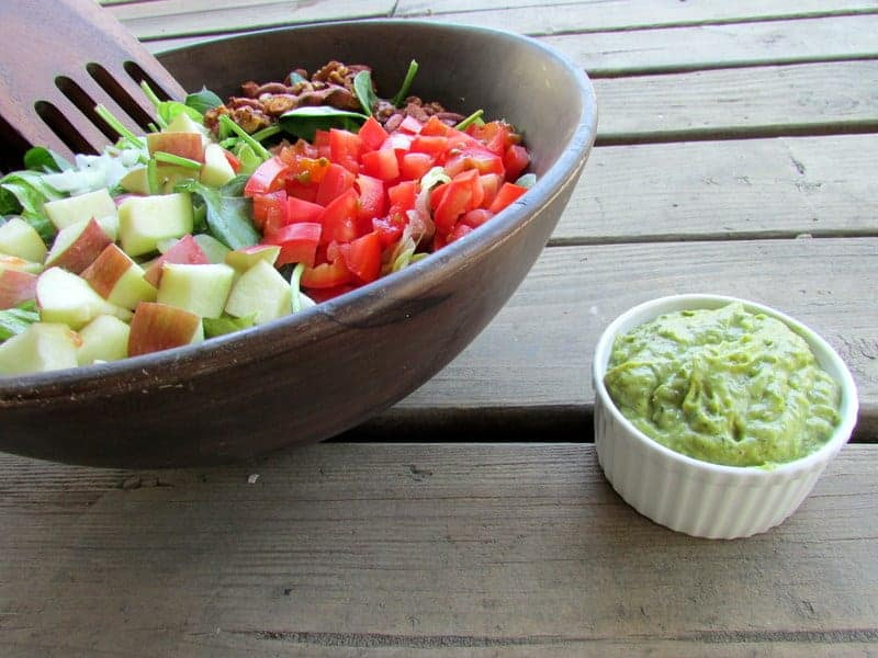 Green Goddess Salad via Treble in the Kitchen