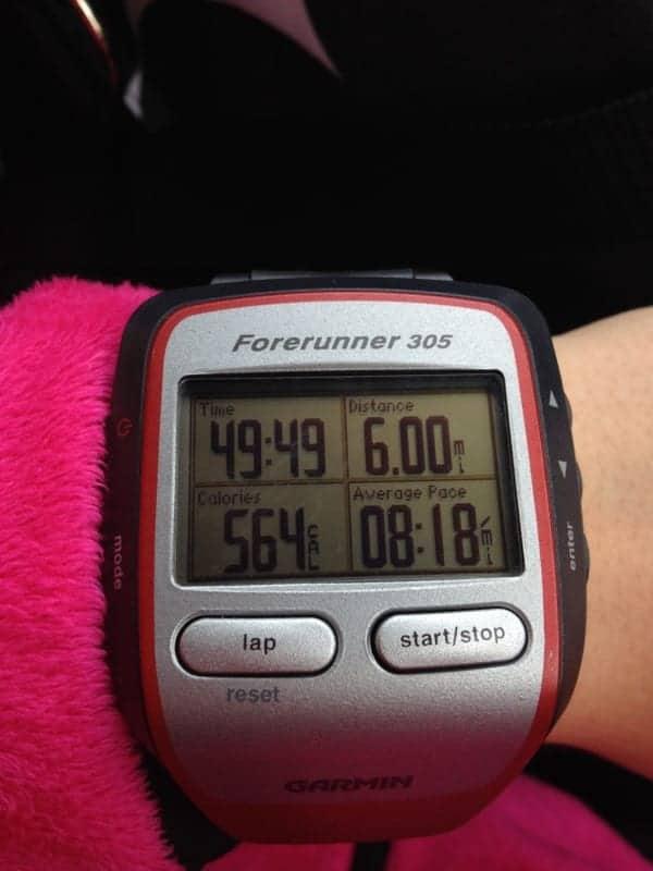 6 mile run