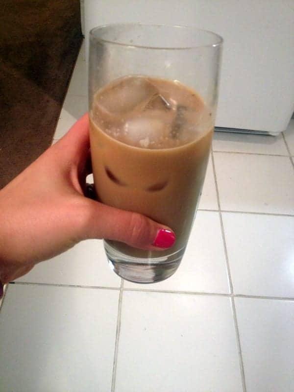 almond milk iced coffee