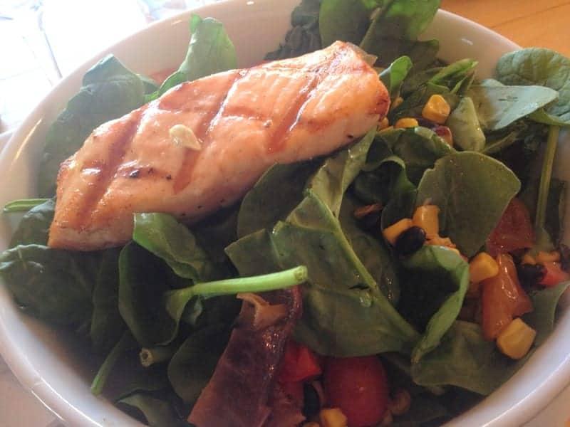 dinner salmon salad