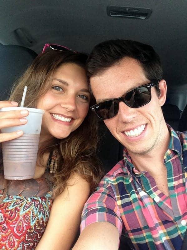tara and brian in car