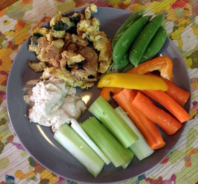 veggie lunch plate