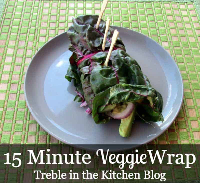 15 minute veggie wrap via treble in the kitchen