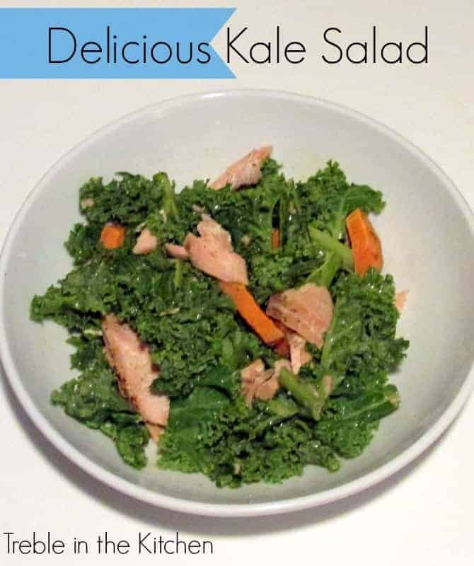 Kale Salad via Treble in the Kitchen