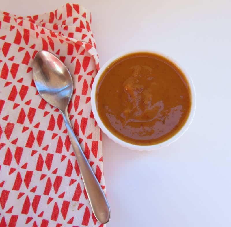 Sweet Potato Chipotle Soup via Treble in the Kitchen