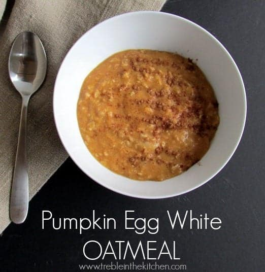 Pumpkin Egg White Oatmeal