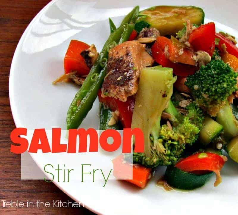 Salmon Stir Fry via Treble in the Kitchen