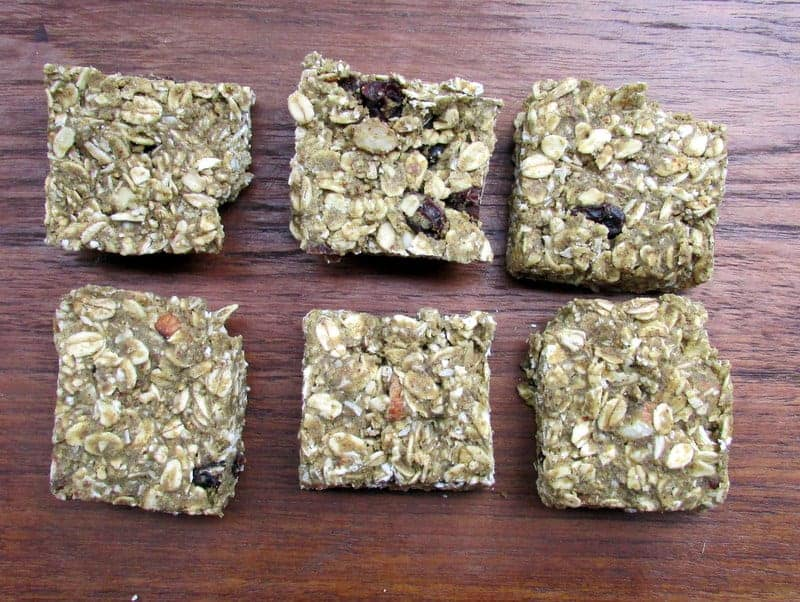 Vega No Bake Pumpkin Spice Energy Bars via Treble in the Kitchen