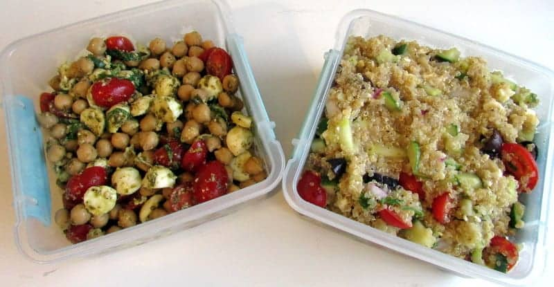 Chickpea Salad and Quinoa Salad - Recipe Testing