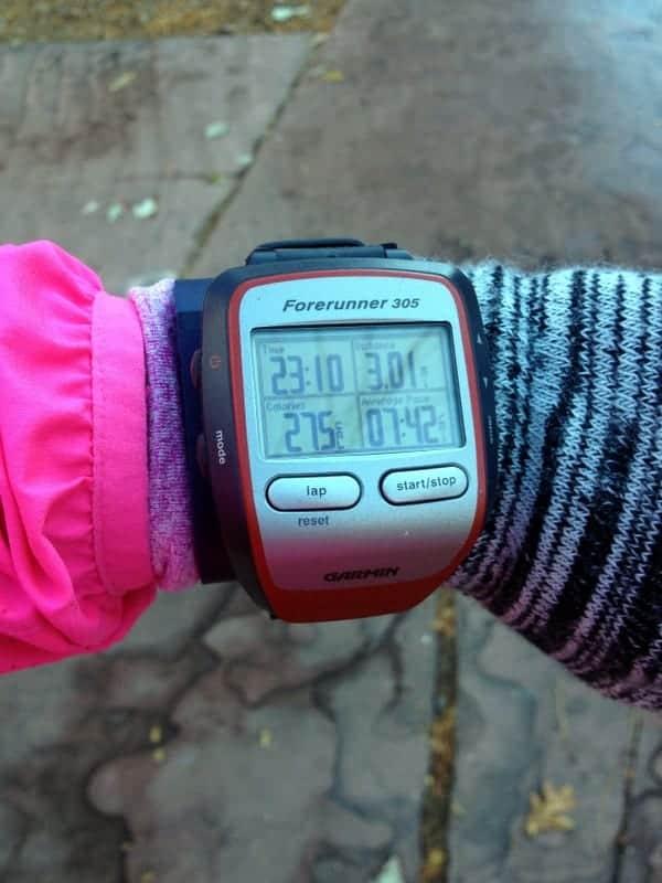 3 mile run
