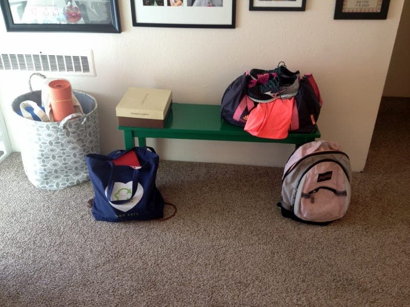 packed bags - day in the life