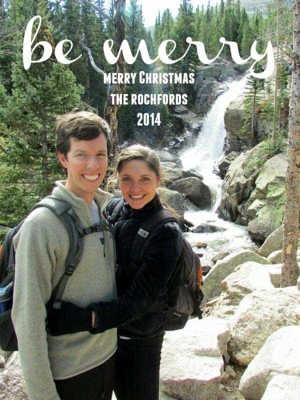 Christmas card Tara and Brian