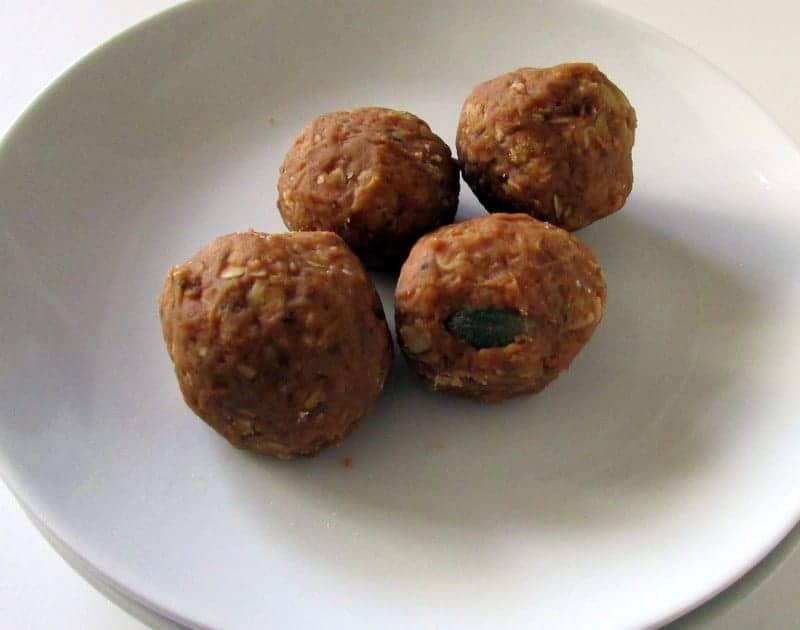 Peanut Butter Maple Snack Bites via Treble in the Kitchen