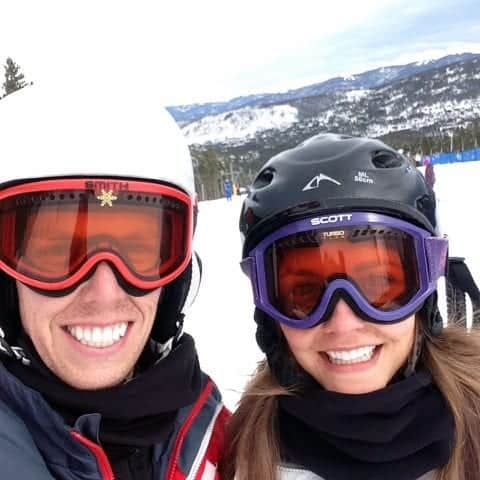 Brian and Tara Skiing