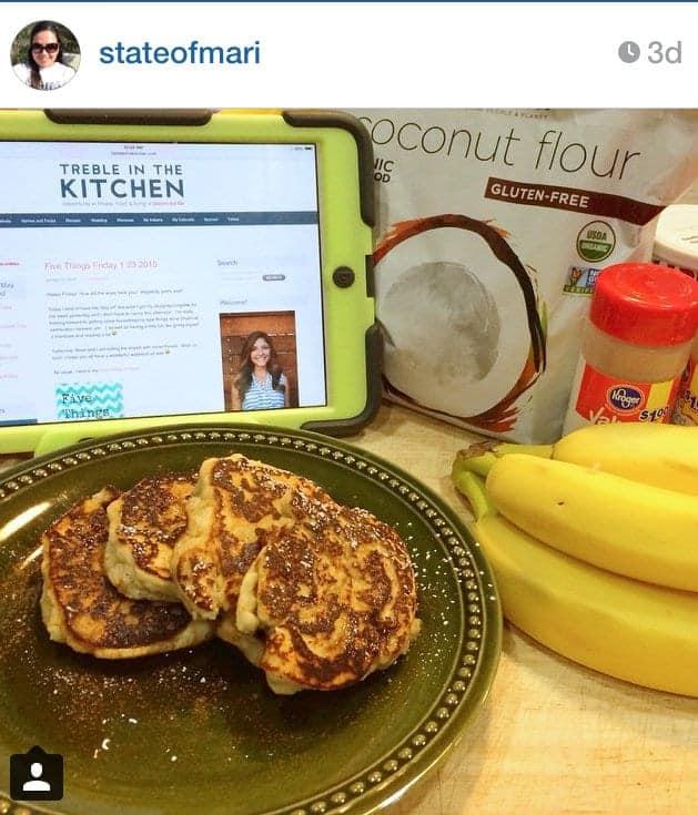 coconut flour pancakes-instagram