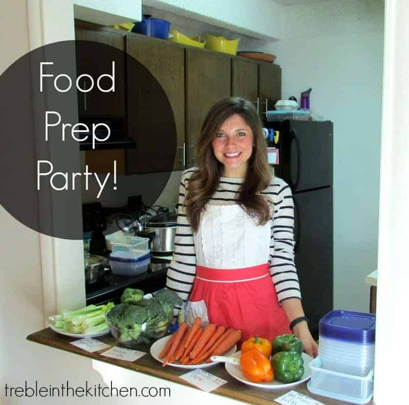 Food Prep Party via Treble in the Kitchen