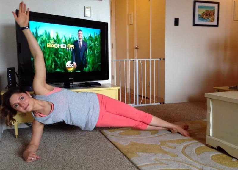 side plank with reach through via treble in the kitchen
