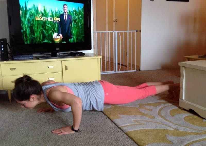 pushups via treble in the kitchen