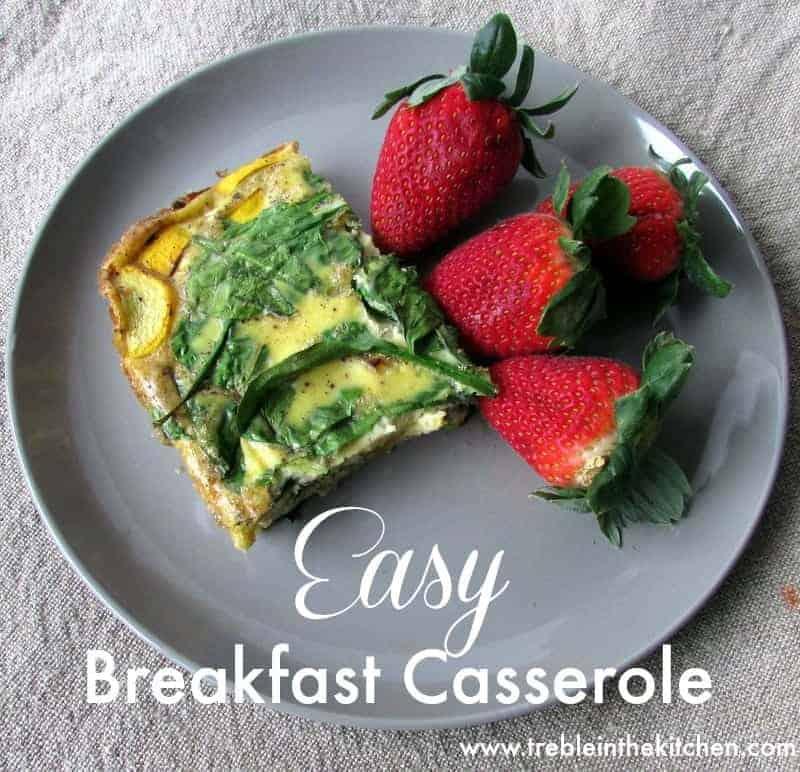 Easy Breakfast Casserole Treble in the Kitchen gluten free, low fodmap, clean eating