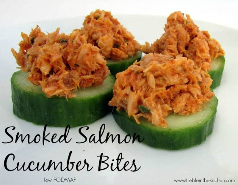 Smoked Salmon Cucumber Bites via Treble low FODMAP in the Kitchen