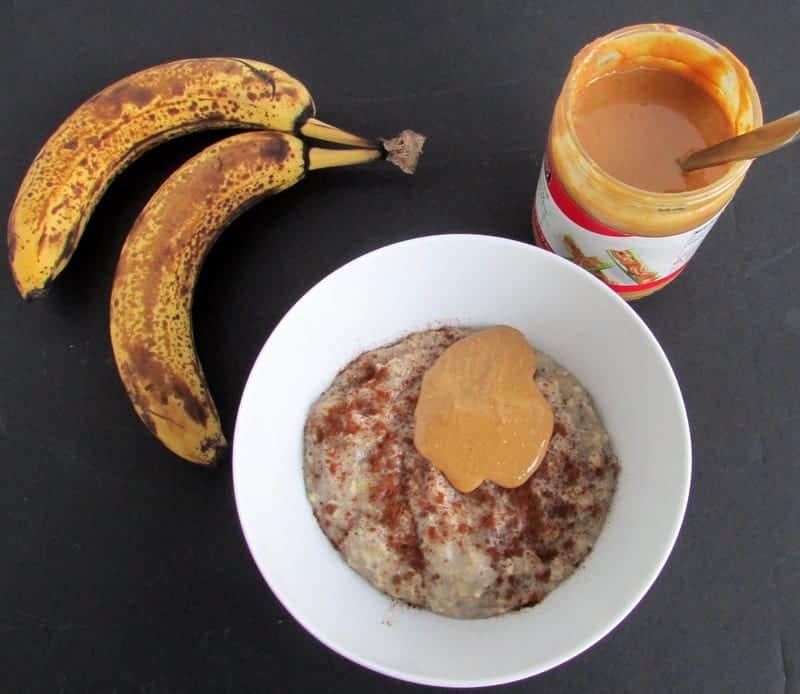 Banana Egg White Oatmeal via Treble in the Kitchen